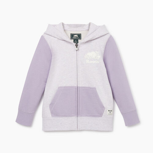 Roots-Kids New Arrivals-Toddler Original Full Zip Hoody-Wisteria Mix-A