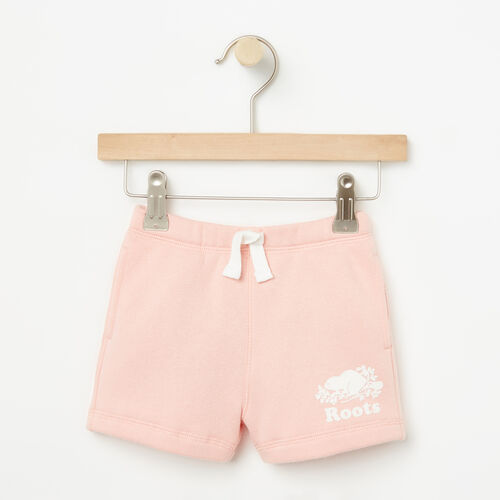Roots-Kids Bottoms-Baby Original Athletic Short-Blossom Pink-A