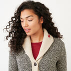 Roots-Women Categories-Roots Cabin Shawl Cardigan-Grey Oat Mix-E