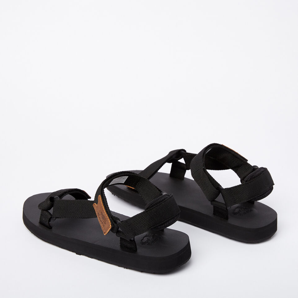 Roots-Clearance Footwear-Mens Tofino Sandal Web-Black-C