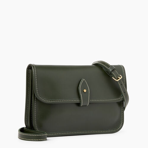 Roots-Leather Categories-Sandys Bag Heritage-Hunter Green-A