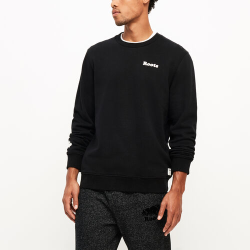 Roots-Winter Sale Men-Remix Crew Neck Sweatshirt-Black-A