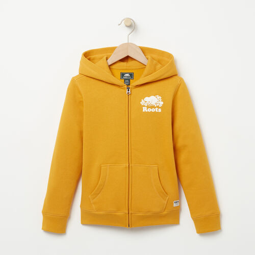 Roots-Sale Boys-Boys Original Full Zip Hoody-Yellow Shadow-A