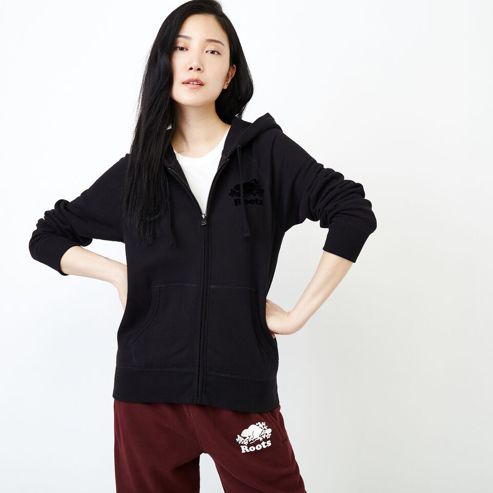 Roots-Women New Arrivals-Original Full Zip Hoody-Black-A