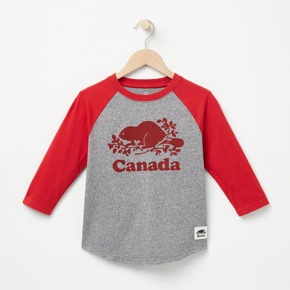 Roots-undefined-Boys Canada Baseball T-shirt-undefined-A