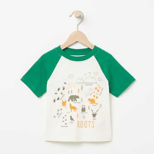 Roots-Kids T-shirts-Toddler Open Air Raglan Top-Pristine White-A