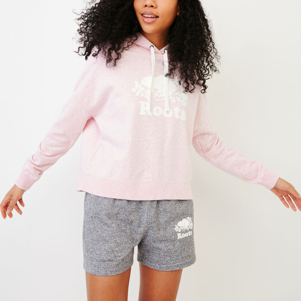 Roots-Women Our Favourite New Arrivals-Melange Terry Hoody-Pink Mist Mixpink-A