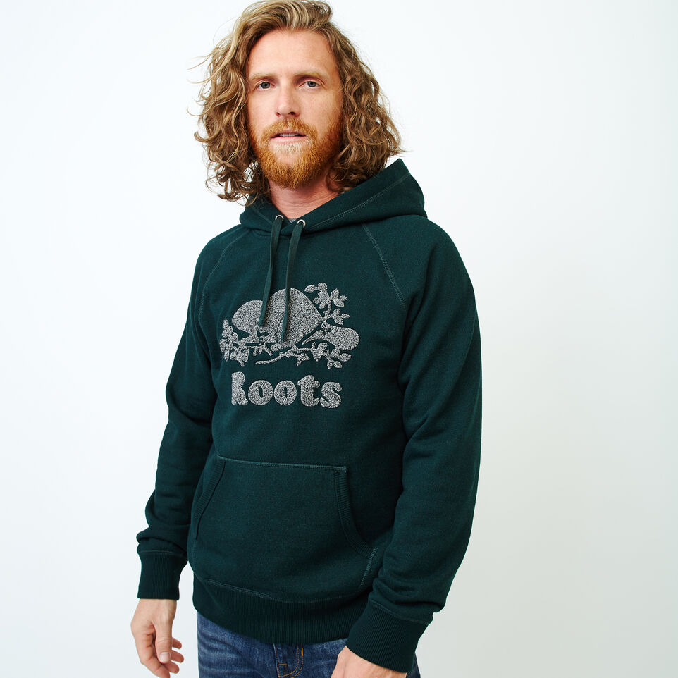 Roots-Men Sweatshirts & Hoodies-Chenille Kanga Hoody-Varsity Green Pepper-A