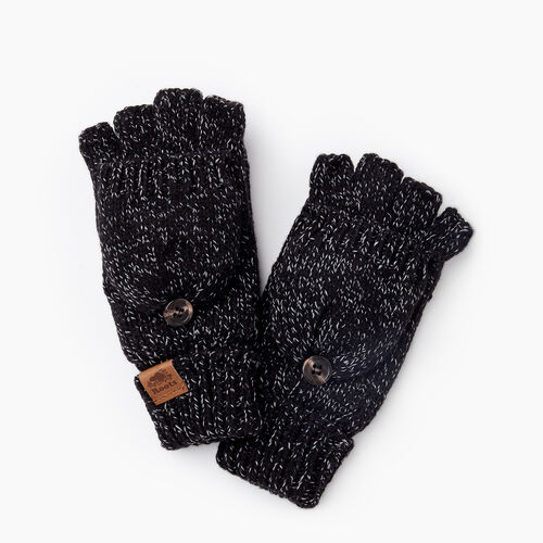 Roots-Kids Accessories-Kids Snowy Fox Flip Mitt-Black Fox-A