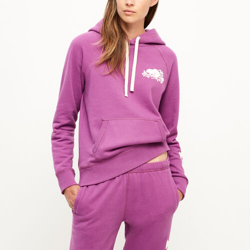 Roots-New For August Women-Remix Kanga Hoody-Hyacinth Violet-A