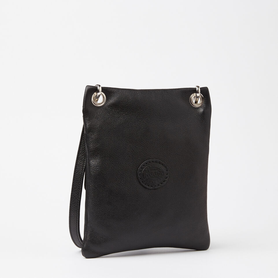 Roots-Leather Handbags-Urban Pouch-Black-C