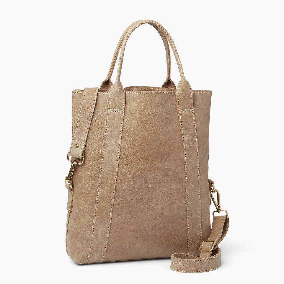 Roots-Leather  Handcrafted By Us Handbags-Annex Tote-Sand-C