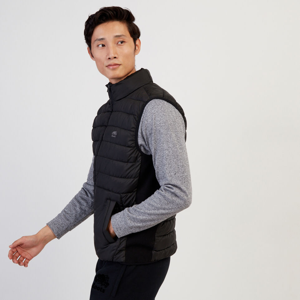Roots-New For February Journey Collection-Journey Hybrid Vest-Black-C