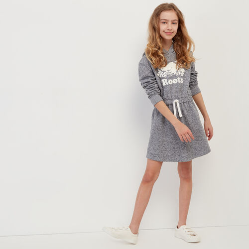 Roots-Kids Our Favourite New Arrivals-Girls Cooper Beaver Hoody Dress-Salt & Pepper-A