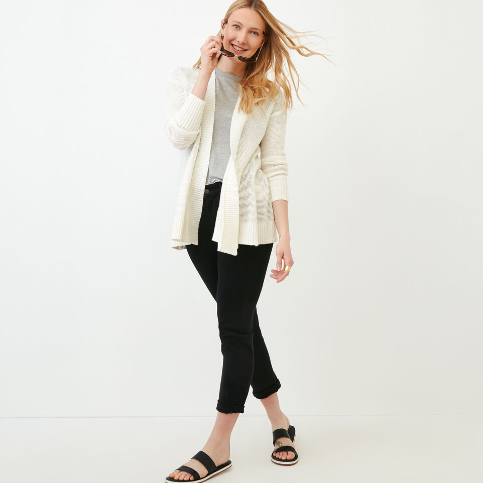 Roots-Women Sweaters & Cardigans-Hillsview Open Cardigan-Ivory-B