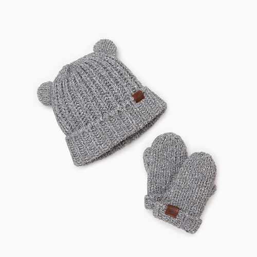 Roots-Kids Our Favourite New Arrivals-Baby Chenille Gift Set-Salt & Pepper-A