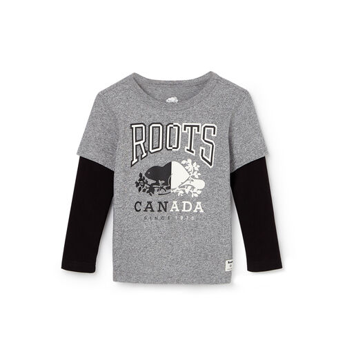 Roots-Gift Guide Kids-Toddler Roots Classic T-shirt-Salt & Pepper-A