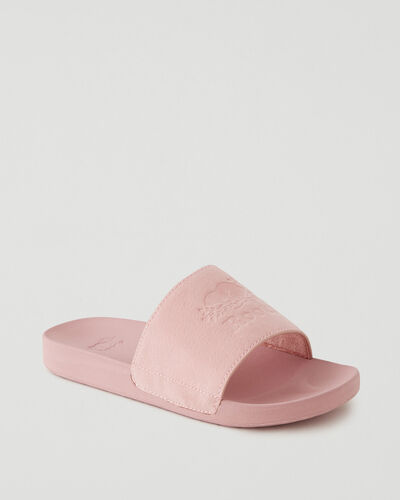 Roots-Footwear Sandals-Womens Long Point Slide-Pink-A
