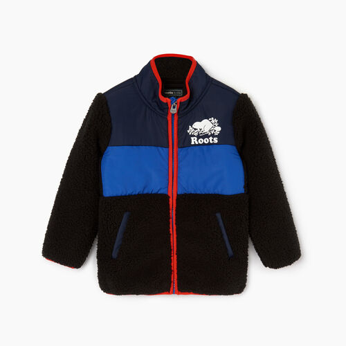 Roots-Kids Toddler Boys-Toddler Sherpa Fleece Jacket-Black-A