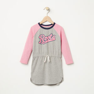 Roots-Kids Toddler Girls-Toddler Tracy Script Dress-Grey Mix-A