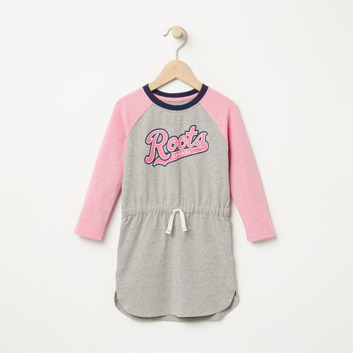 Roots-Sale Toddler-Toddler Tracy Script Dress-Grey Mix-A