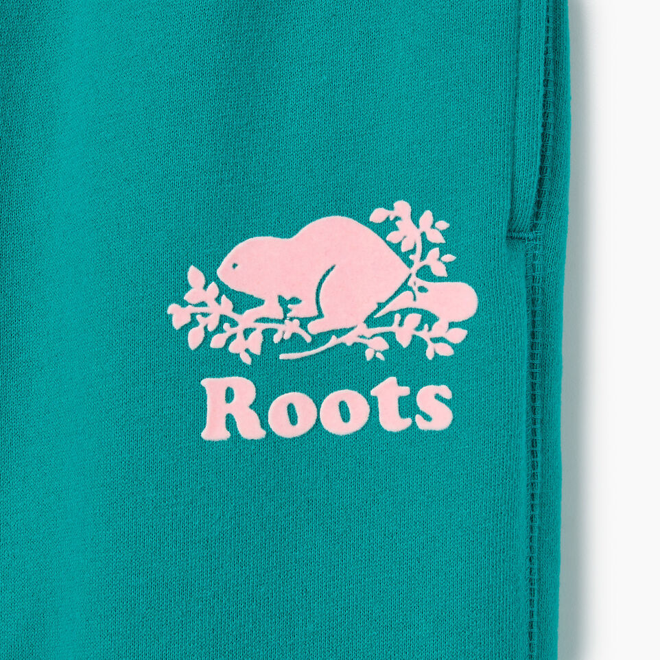 Roots-Kids New Arrivals-Girls Original Roots Sweatpant-Dynasty Turquoise-D