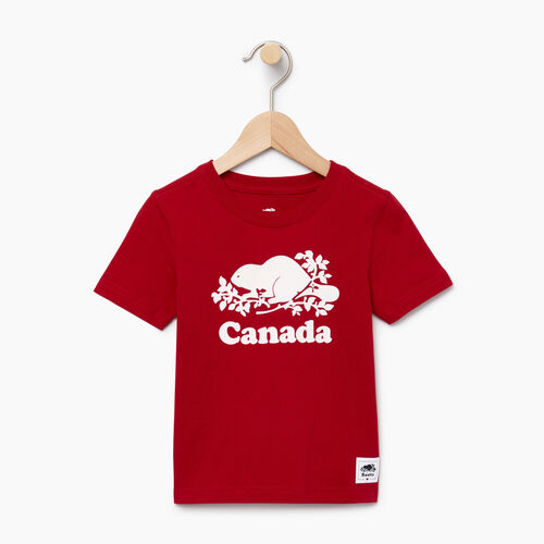 Roots-Kids Canada Collection-Toddler Canada T-shirt-Sage Red-A