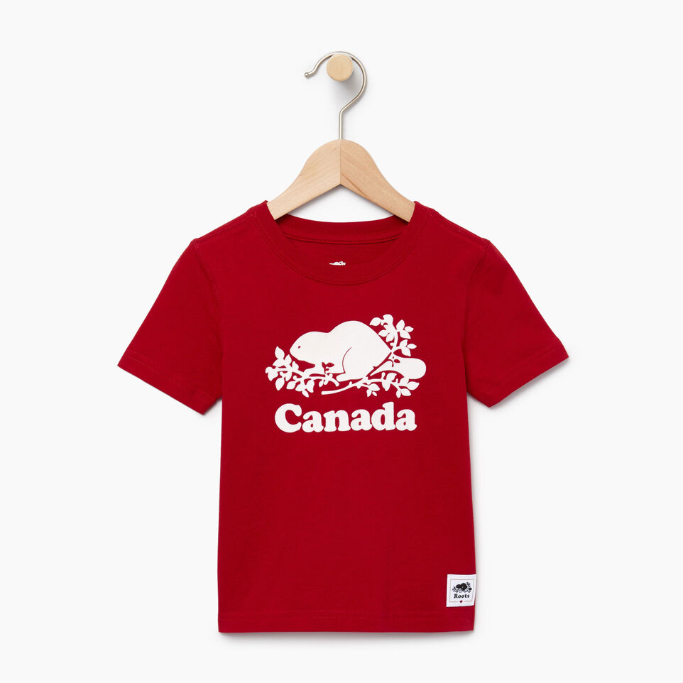 Roots-Kids Our Favourite New Arrivals-Toddler Canada T-shirt-Sage Red-A