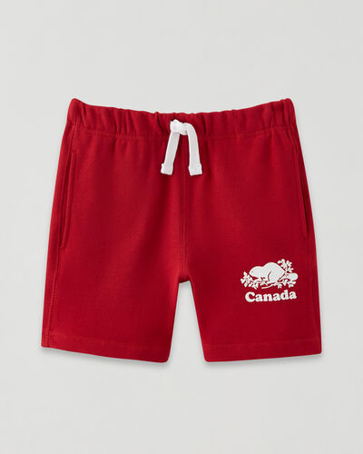 Roots-Shorts Kids-Girls Canada Short-Sage Red-A