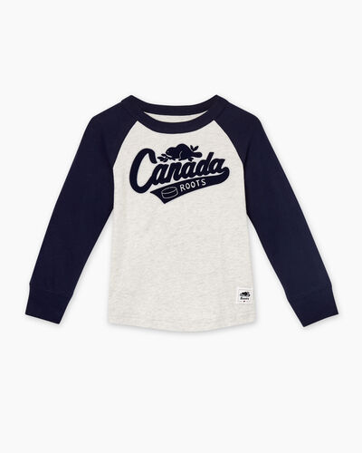 Roots-Sale Toddler-Toddler Canada Raglan T-shirt-White Mix-A