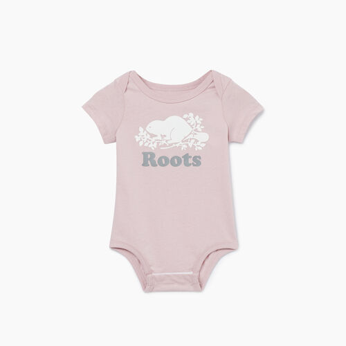 Roots-Kids New Arrivals-Baby Cooper Beaver Bodysuit-Burnished Lilac-A