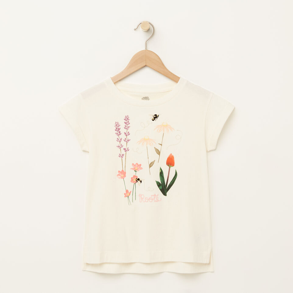 Roots-Girls Floral Boxy T-shirt