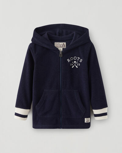 Roots-Sweats Toddler Boys-Toddler Cabin Towelling Full Zip Hoodie-Navy Blazer-A