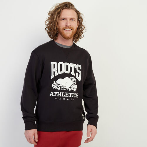 Roots-Men Bestsellers-RBA Crew Sweatshirt-Black-A