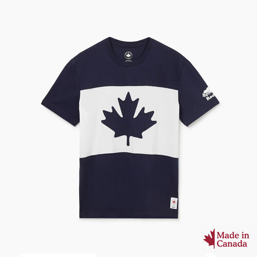 Roots-New For October Canada Collection By Roots™-Mens Blazon T-shirt-Navy Blazer-A
