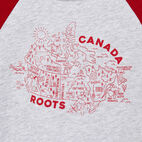 Roots-Kids Our Favourite New Arrivals-Toddler Canada Map T-shirt-Snowy Ice Mix-D