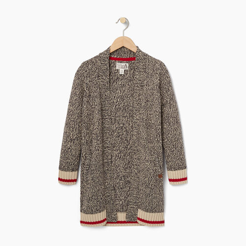 Roots-New For October Kids-Girls Cabin Cardigan-Grey Oat Mix-A