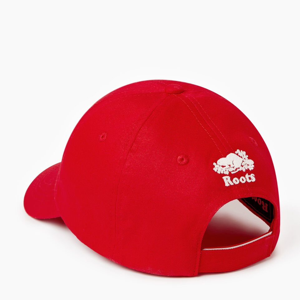 Roots-Clearance Kids-Kids Canada Baseball Cap-Red-C