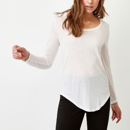 Roots-Women Tops-Sidney Top-White-A