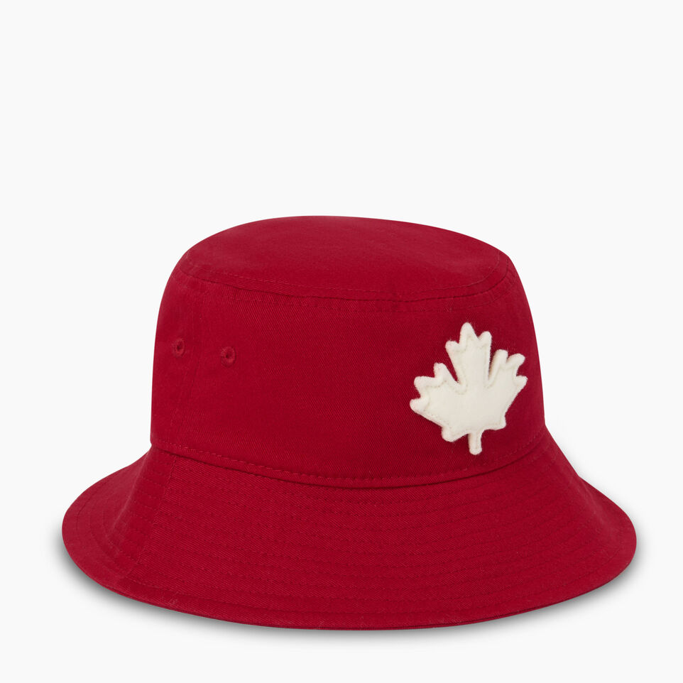 Roots-Clearance Kids-Toddler Canada Leaf Bucket Hat-Sage Red-A
