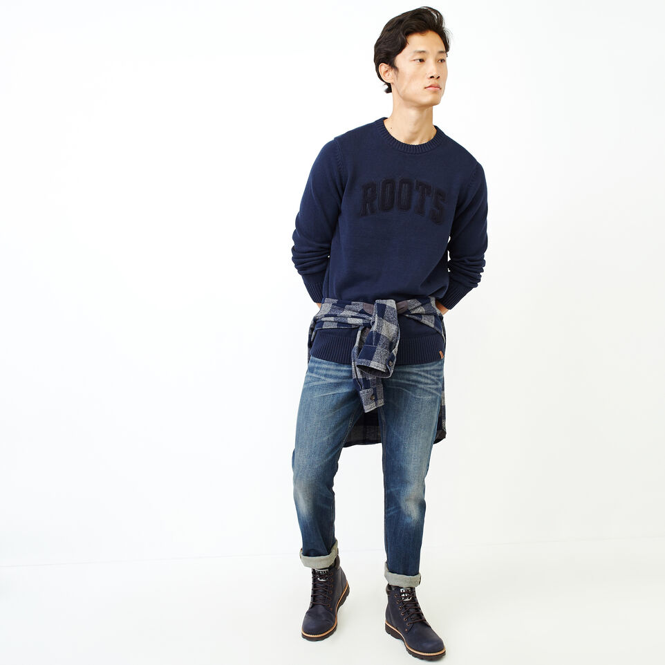 Roots-Men Our Favourite New Arrivals-Applique Crew Sweater-Navy Blazer-B