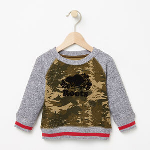 Roots-Sale Baby-Baby Smoke Lake Crew-Woodland Camo-A