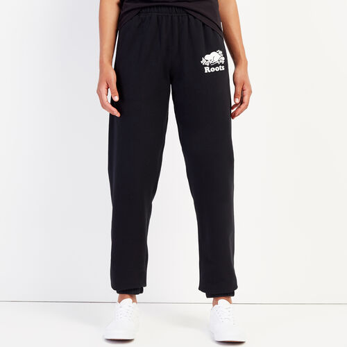 Roots-Women Sweatpants-Original Sweatpant-Black-A