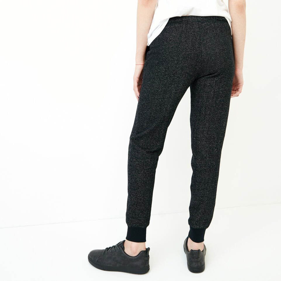 Roots-Women New Arrivals-Slim Cuff Sweatpant - Short-Black Pepper-D