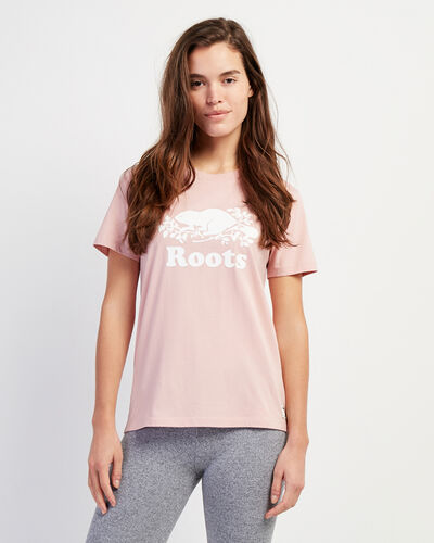 Roots-Women Bestsellers-Womens Cooper Beaver T-shirt-Pale Mauve-A