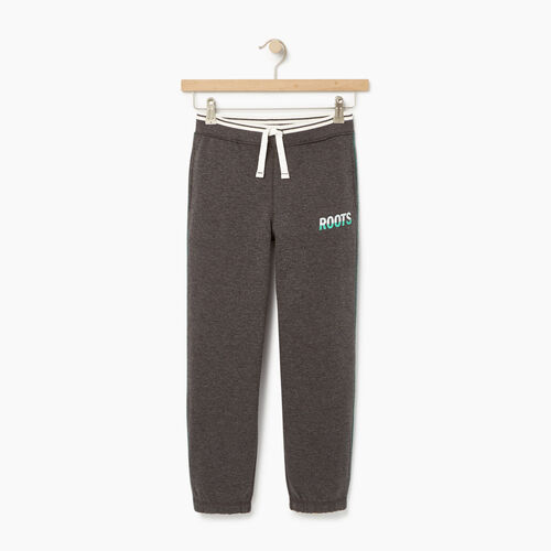 Roots-Kids Bottoms-Boys Roots Speedy Sweatpant-Charcoal Mix-A