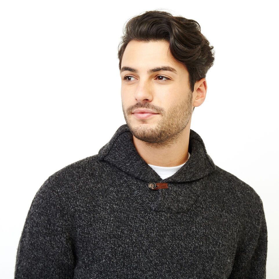 Roots-Men Our Favourite New Arrivals-Roots Cabin Shawl Pullover Sweater-Black Mix-E