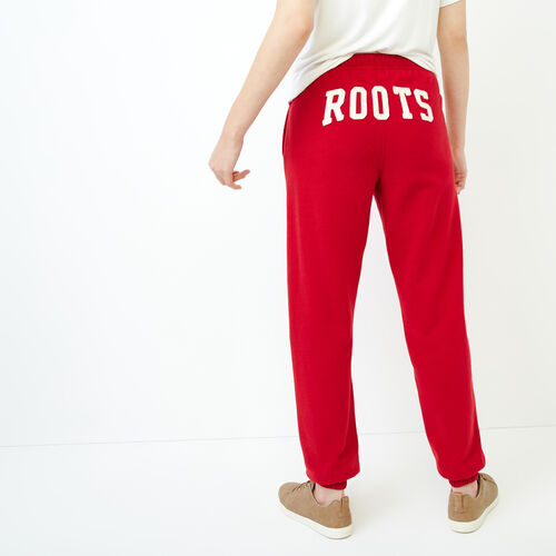 Roots-Women Sweatpants-Original Boyfriend Sweatpant-Cabin Red-A