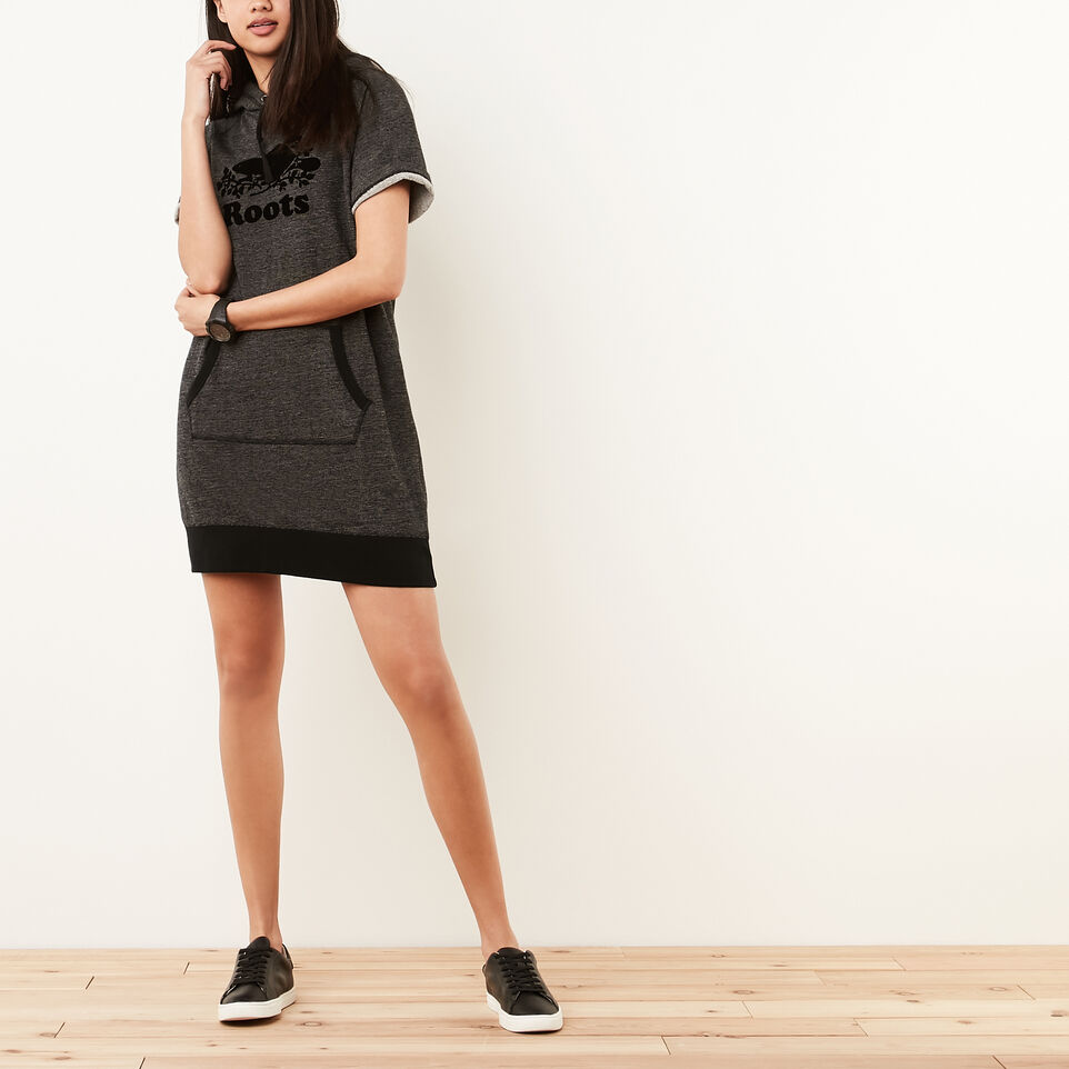 Roots-undefined-Cut Off Hooded Fleece Dress-undefined-A