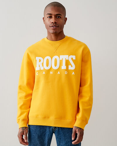 Roots-New For This Month Roots Retro-Retro Relaxed Crew Sweatshirt-Saffron-A